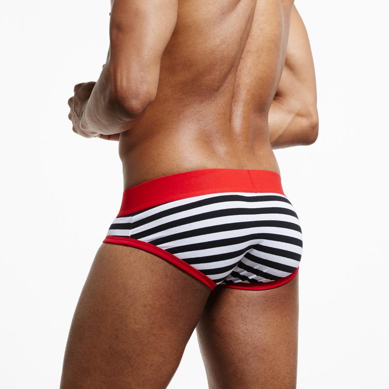 SEEINNER Brand Men Underwear briefs Cotton Striped Sexy calzoncillos hombre slips cuecas gay penis pouch panties gay Underwear 7