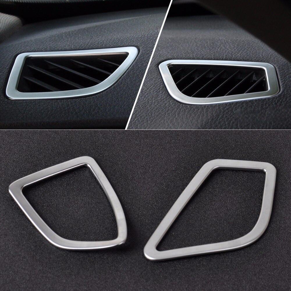 DWCX 2Pcs Interior Chrome Air Conditioning Vent Trim Cover Outlet decoration For BMW 3 series F30 316i 320i 328i 2013 2014 2015+