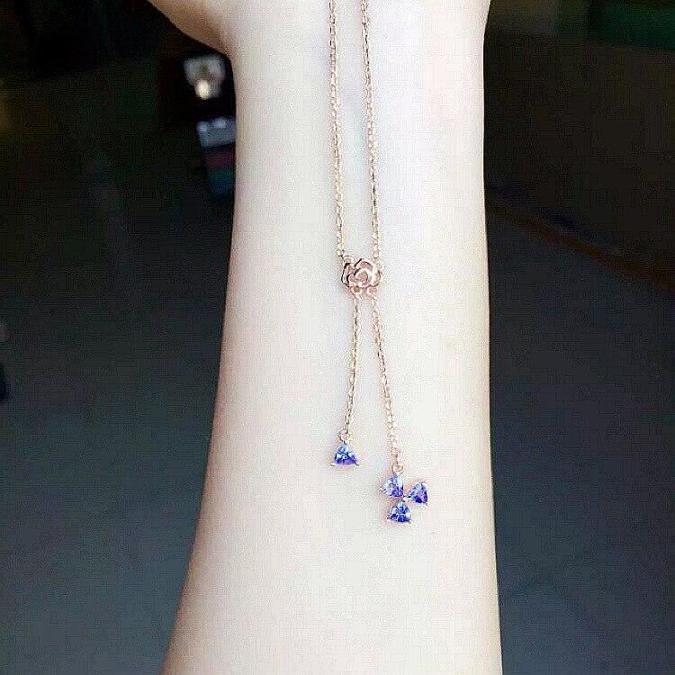 Or collier Femmes Rétro Bijoux Naturel semi-précieux pierres Pendentif Autriche amour Trèfle Rose forme petite amie cadeau