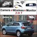 3 in1 Cámara + Receptor Inalámbrico + Monitor Del Espejo Especial Fácil Sistema de Aparcamiento Para Mitsubishi ASX RVR Outlander Sport 2010 ~ 2015