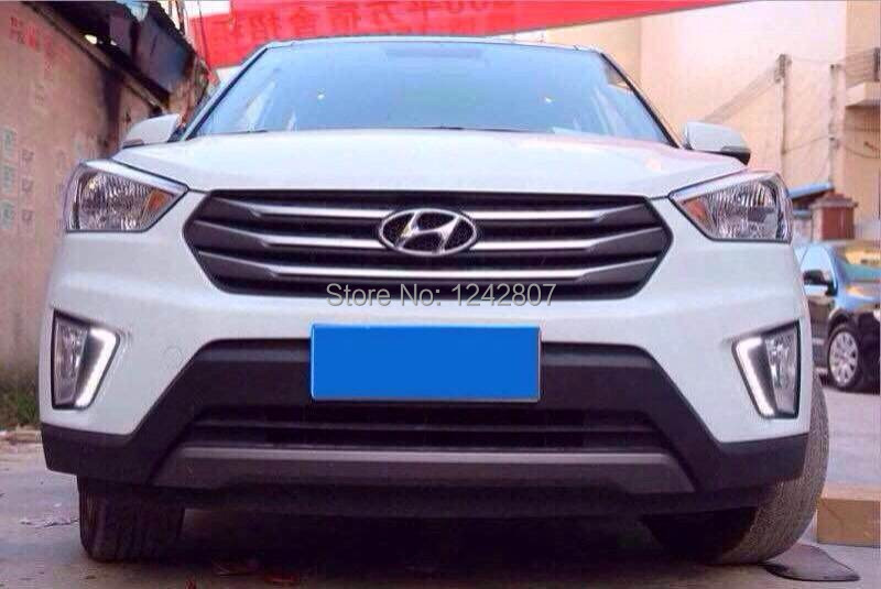 Daytime running light led drl top quality new arrival super bright for Hyundai IX25 with yellow turn light function new arrival led drl daytime running
