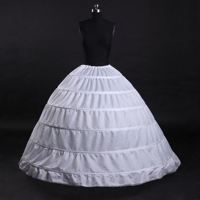 In Stock 6 Hoops Petticoats for Wedding Dress Wedding Accessories Free Shipping Crinoline Cheap Underskirt For Ball Gown