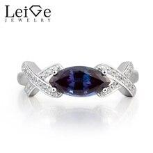 Leige Jewelry Alexandrite Engagement Ring Alexandrite Ring font b June b font font b Birthstone b