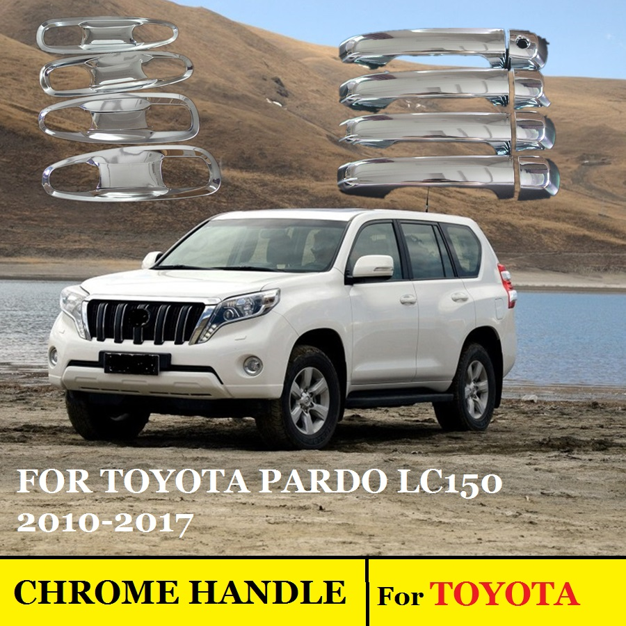 For toyota land cruiser prado 150 lc150 chrome door handle cover accessories stickers car styling 2010