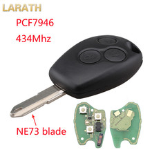 LARATH New Remote Key 434MHz PCF7946 3 Buttons Keyless Entry Fob for Renault Clio Modus Master Twingo Car Alarm With NE73 Blade(China)