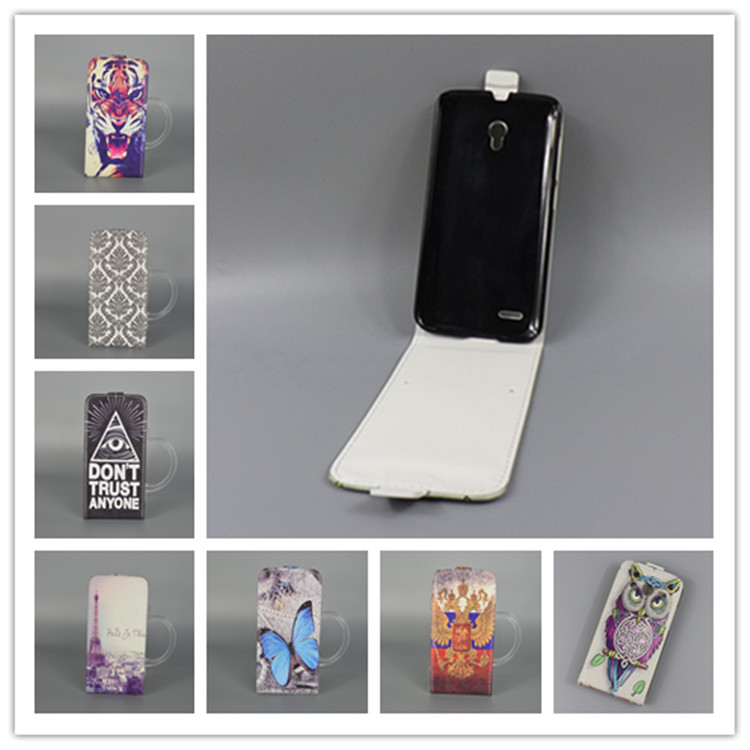 For Alcatel One Touch Pop 2 7043A 7043Y <font><b>7043K</b></font> Pop 2 Premium 7044 7044A 7044X 7044Y Hot Pattern Cute PrintingVertical Flip Cover image