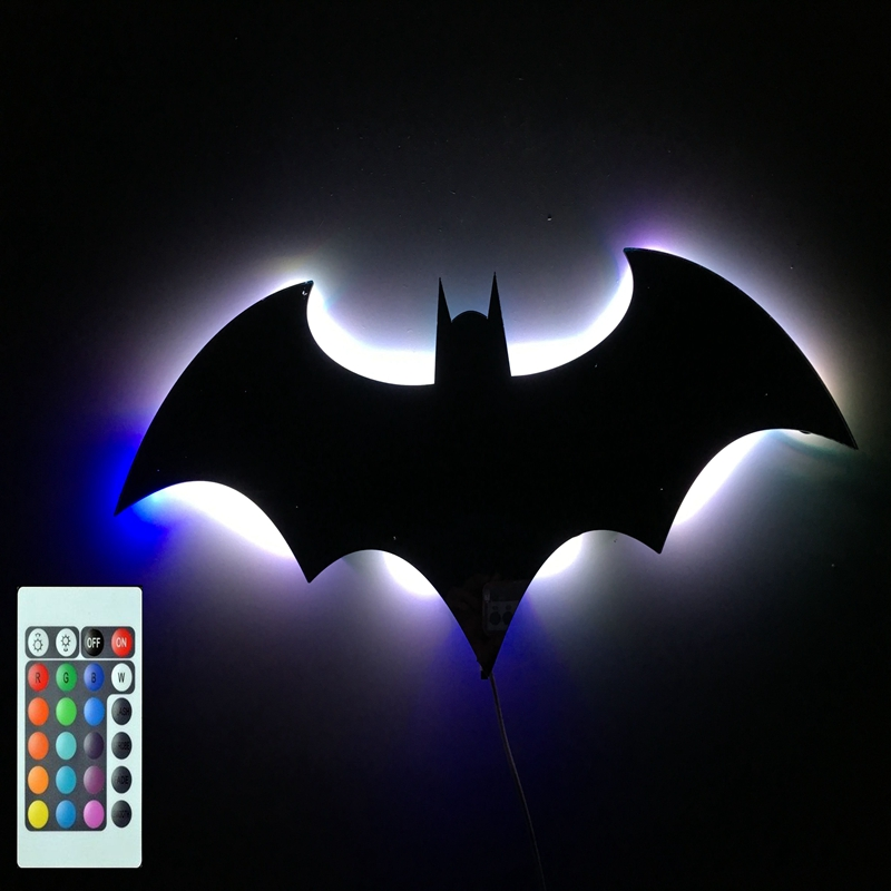 Batman Projection Night Light Rgb Color Changing Led Bar Party