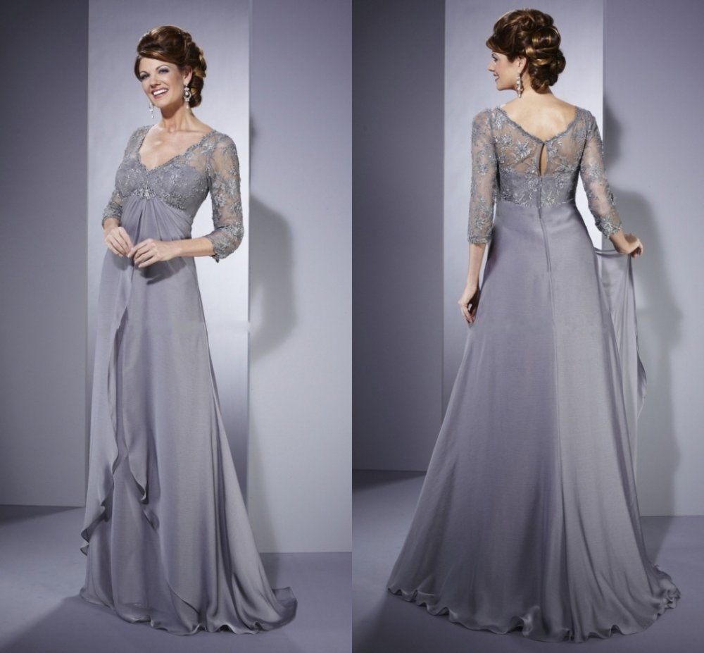 dress with lace sleeves in mother of the bride dresses from weddings