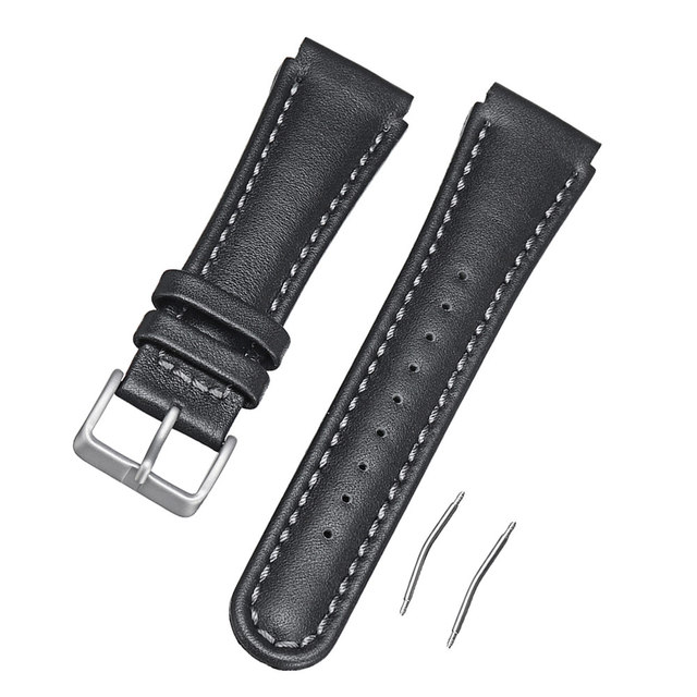 22mm Genuine Leather Watchband Replacement Band For Suunto X Lander Watch Ll 17