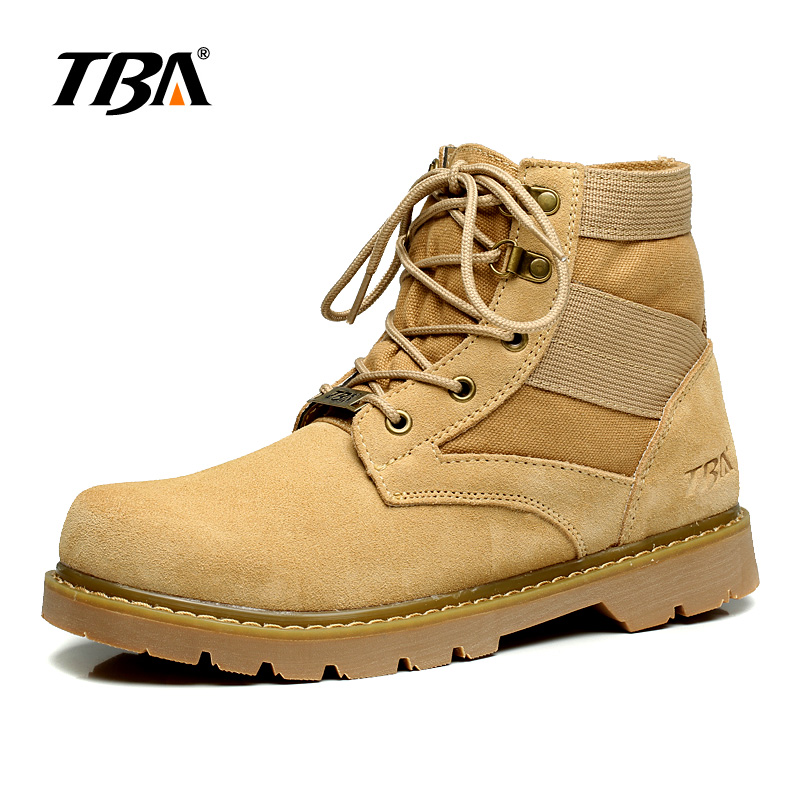 Trekking Outdoors Men Shoes Classics Lace Up Hiking Boots Rubber Sole Breathable Leather Military Tactical Winter Men's Sneakers breathable lace up men outdoor hiking shoes