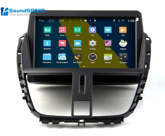 for peugeot 207 cc sw touch screen android autoradio gps. Black Bedroom Furniture Sets. Home Design Ideas