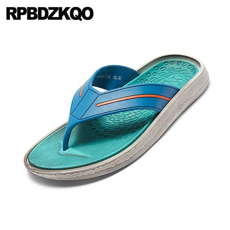Casual Sandálias Chinelos Homens Moda Preto 2018 verde Em Agua Dedo Dos Plano branco azul Livre Slides De Desenhista Praia Suave Verde Sapatos Ao Escorregar Ar Verão Chinelo rTrp0qw