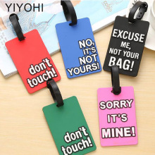 Travel Accessories Luggage Tag Cute Letter Not Your Bag Silica Gel Suitcase ID Addres Holder Baggage Boarding Tag Portable Label travel accessories luggage tag fashion map silica gel suitcase id address holder cute baggage boarding tag portable label