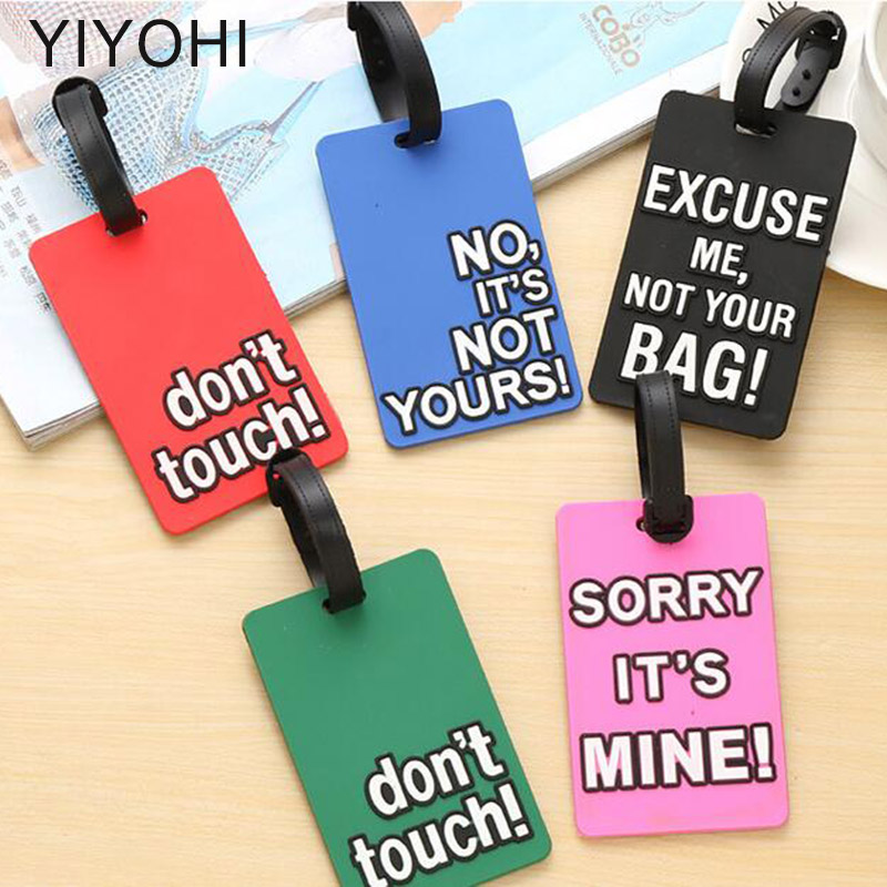 ROLLING HOP Halloween Eyes Travel Luggage Tag Cool Employees Card Luggage Tag Holders Travel ID Identification Labels.