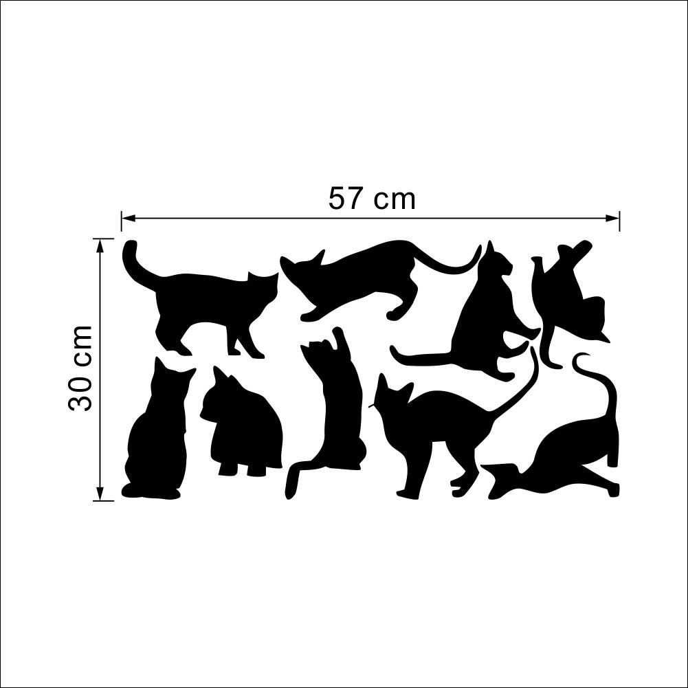 Nine Cats Wall Stickers Removable Vinyl Home DIY Nine Cats Wall Stickers Removable Vinyl Home DIY HTB1miOpLpXXXXamaXXXq6xXFXXX5