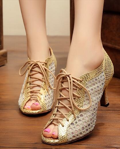 Zapatos de baile de salsa Zapatos de salón de baile con cordones Zapatos de baile latino con cordones xoUl1J