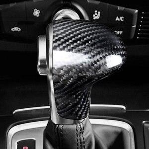 Автомобильный Стайлинг, углеродное волокно, автомобильный рычаг переключения передач, крышка для Audi A4 A5 A6 C7 A7 Q5 Q7, автомобильный Стайлинг