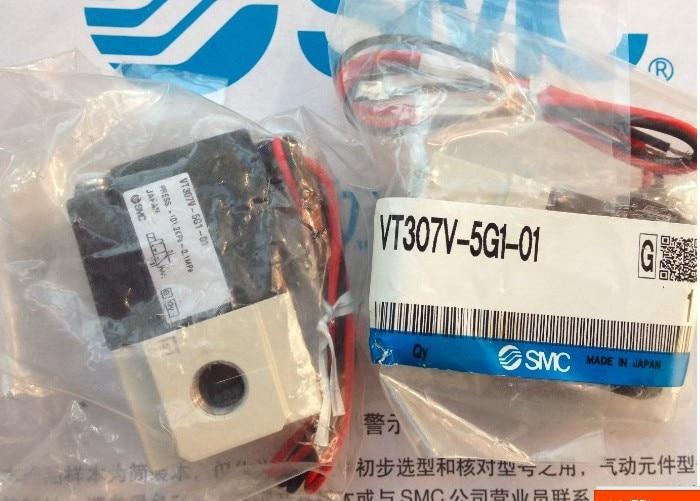 New SMC genuine solenoid valve VT307-5G1-01 [sa] new japan genuine original smc solenoid valve vqd1131w 5m m5 spot 2pcs lot