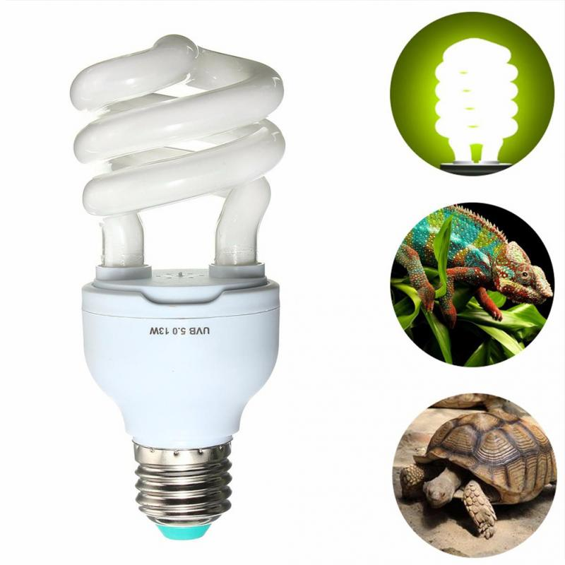 5.0 10.0 Uvb 13w Reptile Light Bulb Uv Lamp Vivarium Terrarium Tortoise Turtle Snake Pet Heating Light Bulb 110v-220v E27 #116