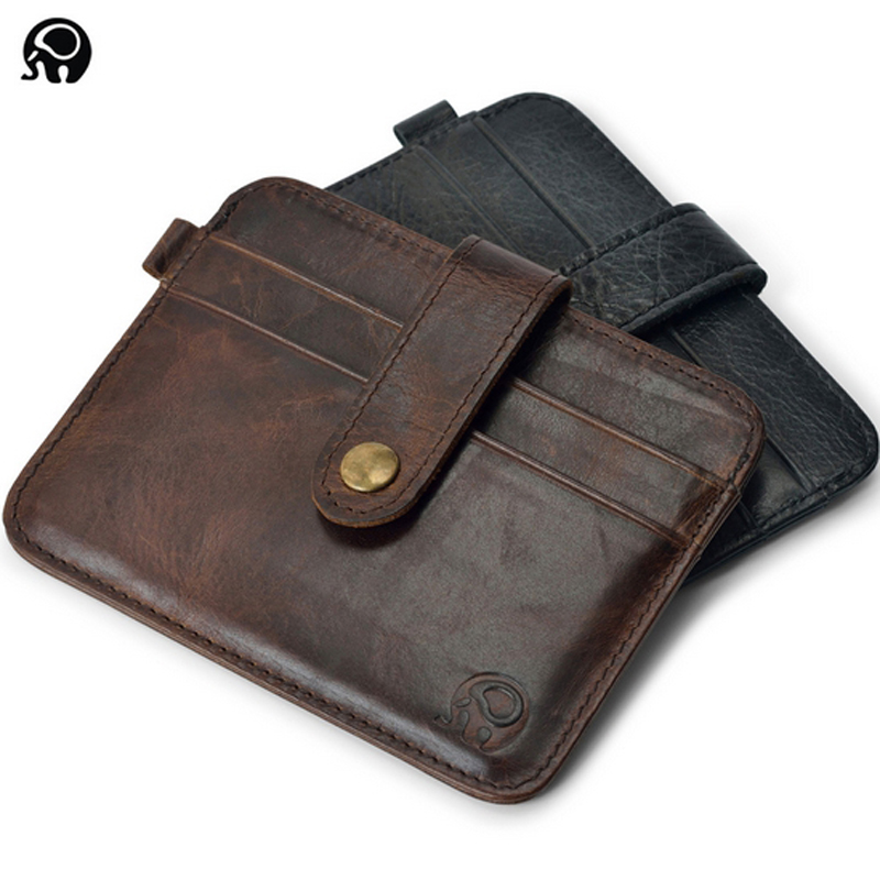 Slim Leather Visiting Cards Men Wallet Business Card Holder Bank ...