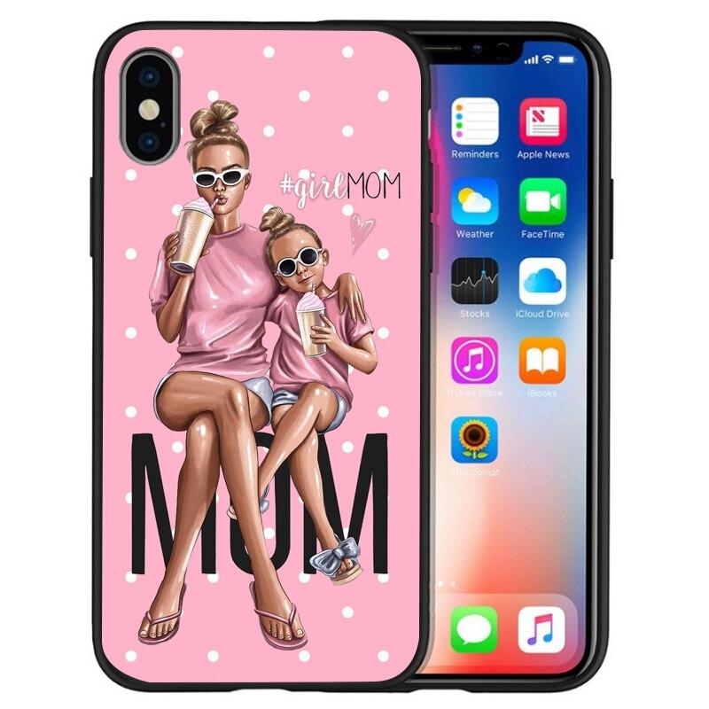 Супер I Love Mama мышь папа мама мальчик детский чехол для чехла iphone 8 7 X XS Max XR 6 7 8 плюс 5S SE мягкий чехол Etui - Цвет: 05