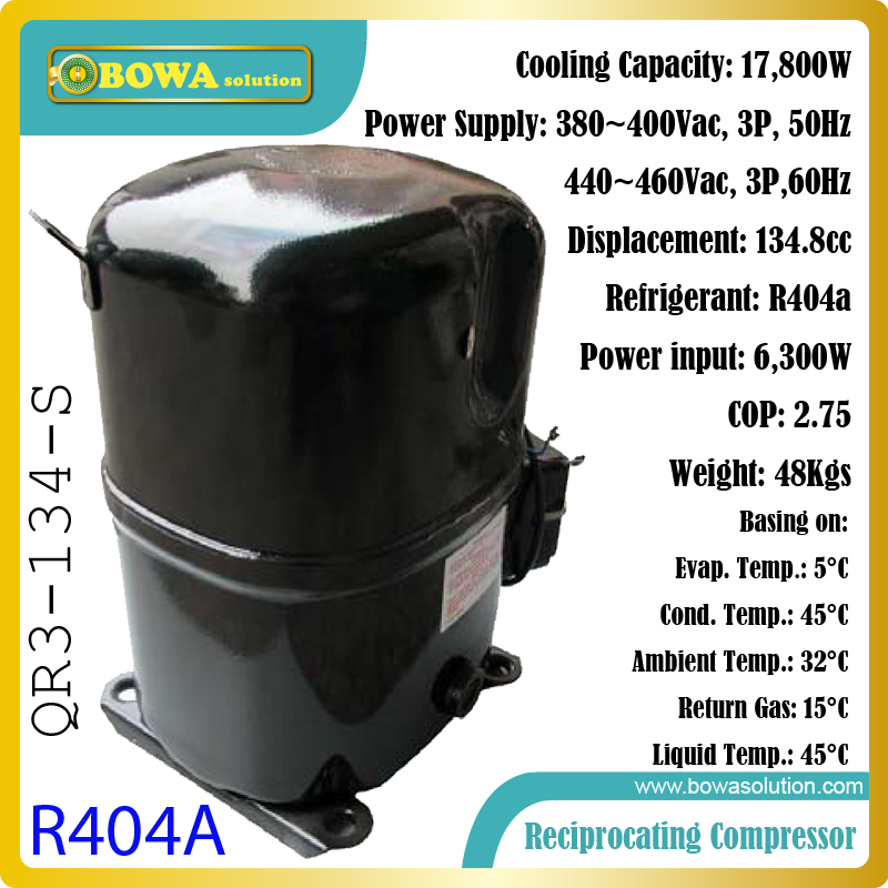 18KW R404a industry reciprocating compressors can work in R134 and R23 self cascade refrigerant units for ultra-low temperstures biotechnology in the pulp and paper industry 21