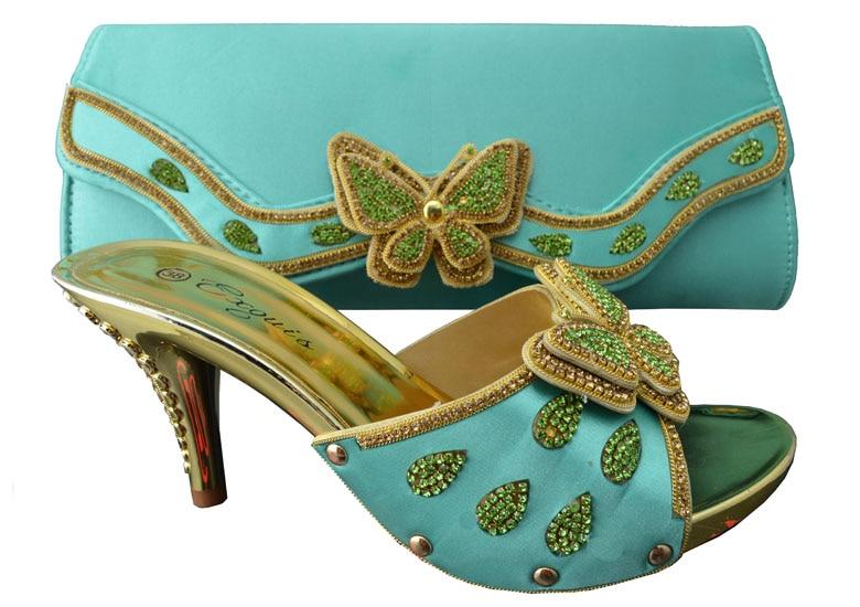 ФОТО Fashion New Design Iitalian Woman Shoe And Bag Set Summer Style Casual High Heel Shoes And Bag Set Free Shipping 1308-L38