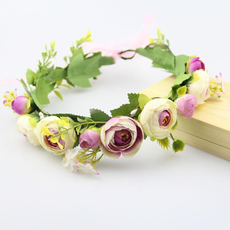unique novia mujeres corona de la flor banda para el cabello diadema arco de la cinta