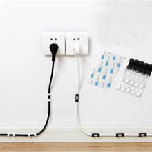 5 paquetes de Clip de Cable Dispositivo de Clips de Cable USB soportes de Cable de fijación de alambre abrazadera organizador de Clip de Cable adhesivo soporte de Cable