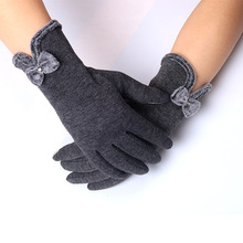 Female Gloves Luva Winter for Women With Bow  Fitness Ladies Glove Guantes Mujer Outdoor Mitten Heated Phone Touch Screen Gloves