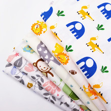 Childish Style Animal Printed Cotton Twill Fabric Patchwork Quilting DIY Sewing Craft Telas Tissus Bedding Textile Cushion Cloth