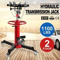 1100 LB 2 Stage Hydraulic Transmission Jack w/ 360 degree Swivel Wheels Lift Hoist