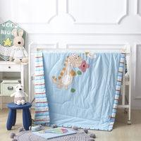 Cartoon Animals Quilted Bedding Quilt Comforter Washable Kids Boys Quilt Dinosaur Blanket Airconditioner Summer Cotton Quilts