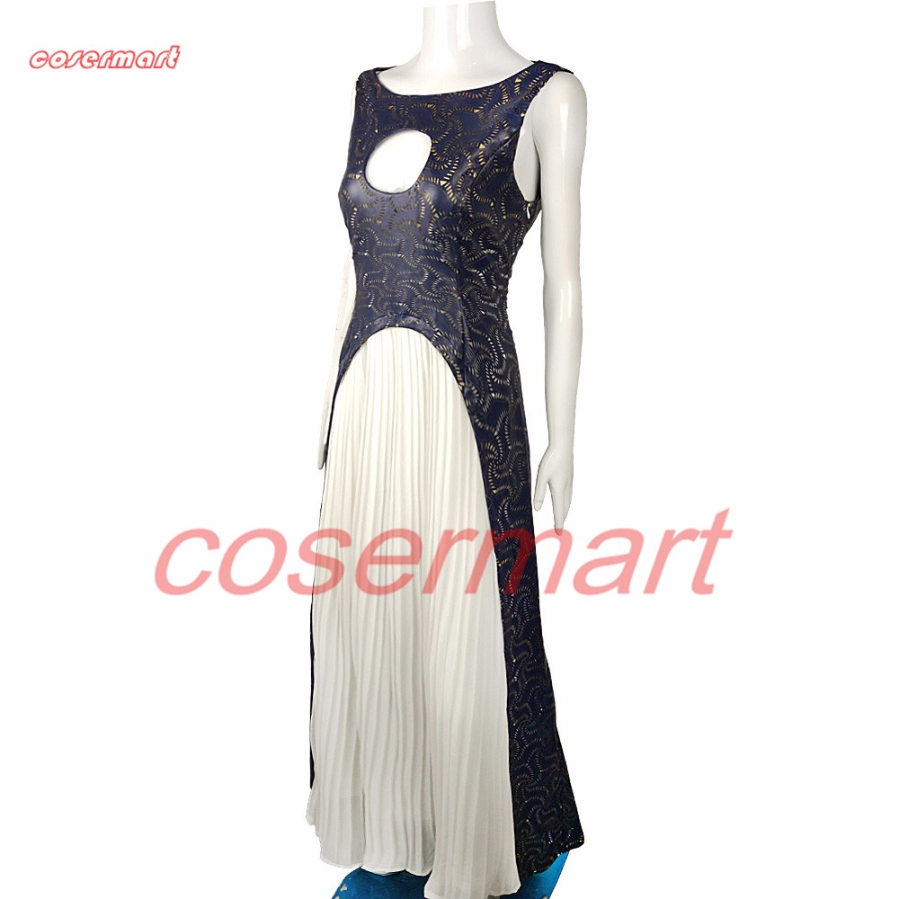 The Game Of Thrones Dress Cosplay Daenerys Targaryen Qarth Dress Leather Costume Halloween Party Prop (2)