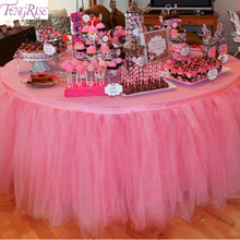 FENGRISE Baby Shower Tulle Rolls 15cm 91.5m Spool Tutu Tulle Table Skirt  Wedding Decoration Birthday