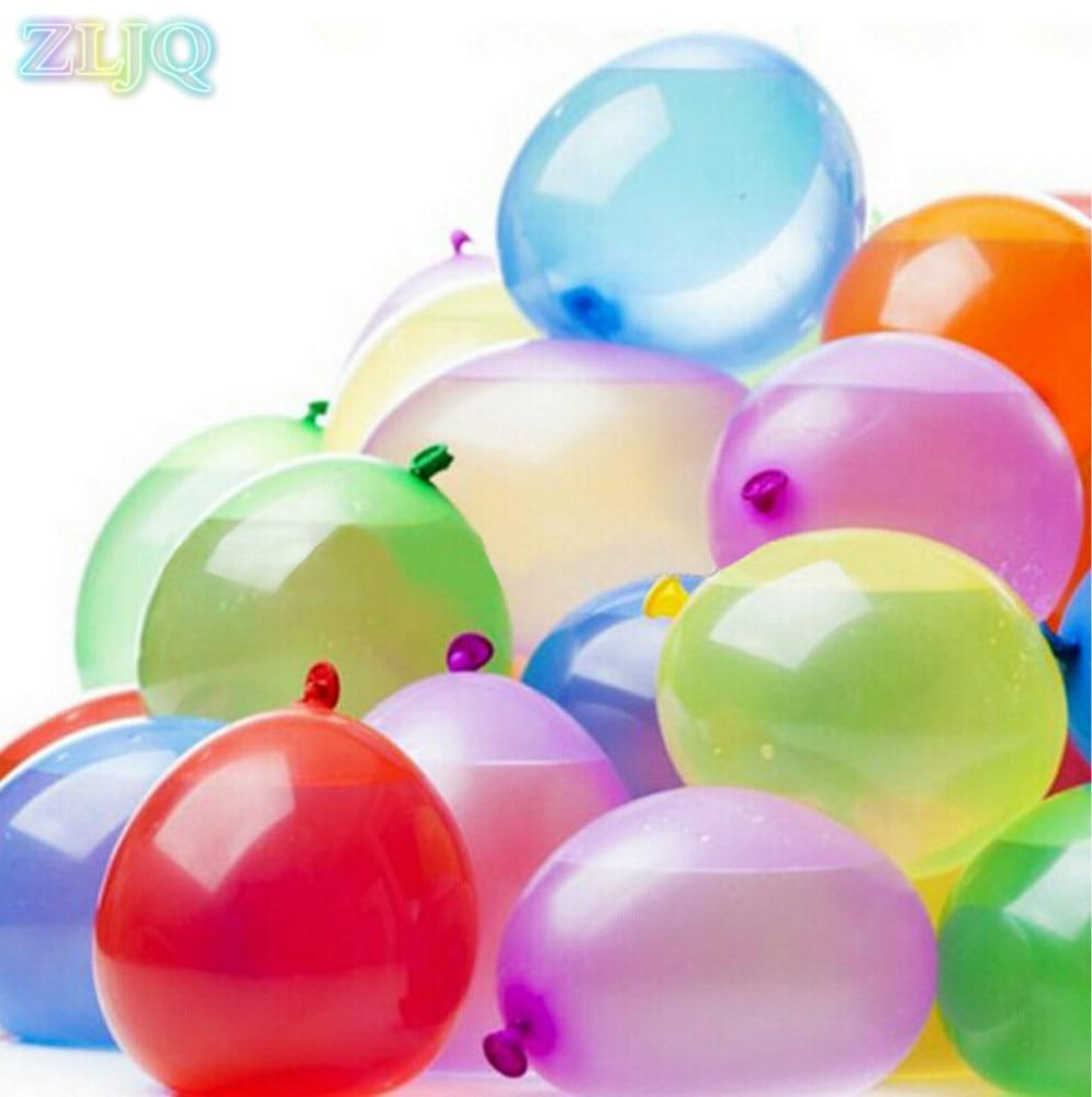 Zljq 111pcs pack funny water balloons bomb bunch filled with water balloons funny latex balloon