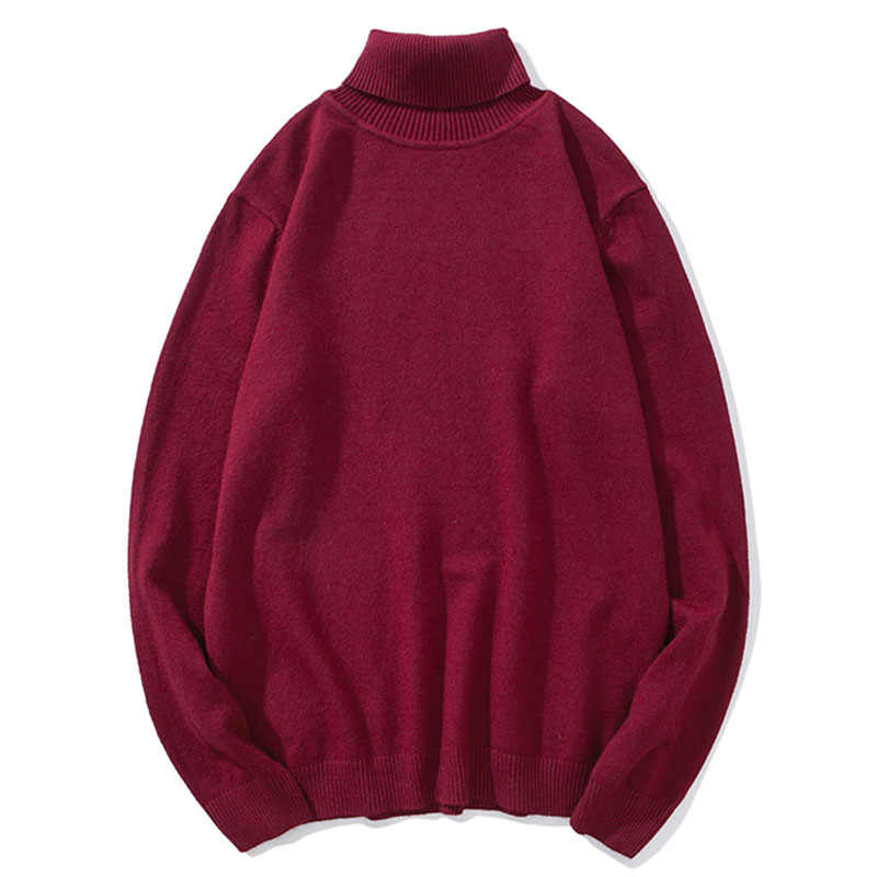 Czytelne męskie zimowe swetry męskie golf czarny swetry swetry męskie koreańskie stałe czarne para kolorowe ubrania