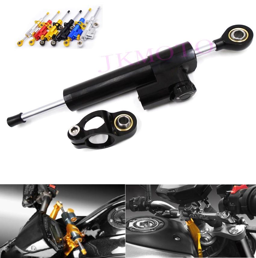 ФОТО High Quality Universal CNC aluminium Adjustable sepeda motor sepeda motor Steering Damper hitam untuk Suzuki Kawasaki