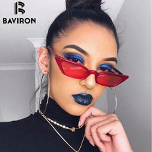 BAVIRON Cat Eye Sunglasses Women Vintage Sunglasses UV400 Women Brand Designer Black Small Retro Cateye Sun Glasses Ladies Red
