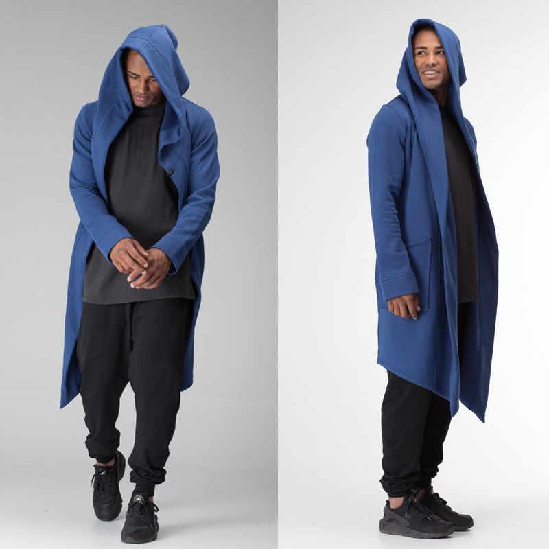 6860ddec750a4 ... Men Women Hooded Coat Cloak Long Jacket Unisex Sci-fi Kimono Cardigan  Burning Man Woman ...