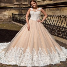 SIJANEWEDDING Princess Ball Gown Lace Wedding Party Dress