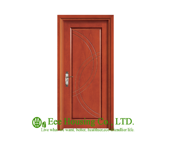 40mm Thickness Timber Veneer Door For Apartment, Swing Type Door, Inward & Outward Opening Entry Door, MDF Timber Door