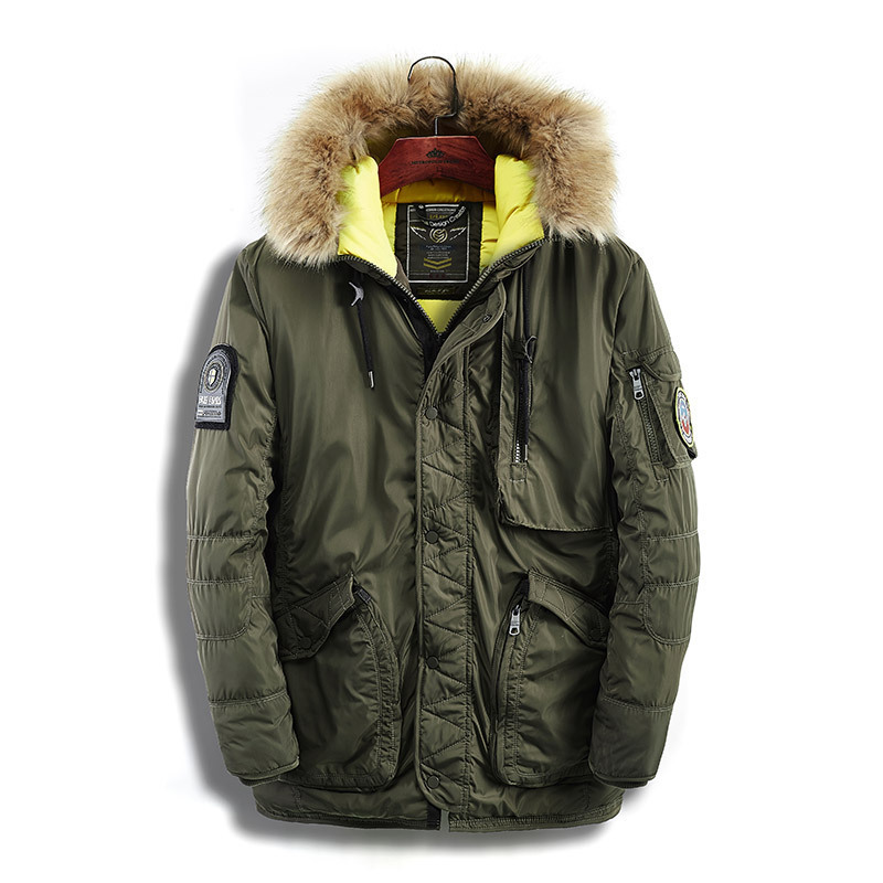 Thick Clothes Fur Collar New Casual 2018 Brand Men Padded Parka Brand Winter Polyester Coat Mens Long Jacket