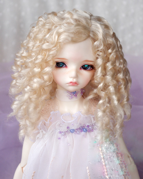 BJD doll wigs light golden long curly hair Imitation mohair wigs for 1/3 1/4 1/6 BJD DD SD MSD doll hair doll accessories 20cm deep wavy doll wigs sd ad 1 3 1 4 1 6 bjd doll diy hair for blyth bjd handmade doll wigs