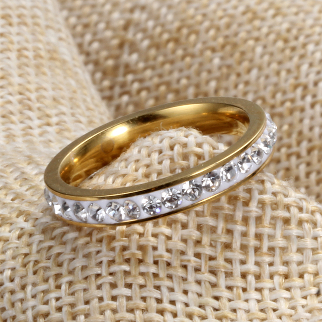 Wedding Jewelry Engagement Rings Hot Sale Lady Gold Color Rings for Woman