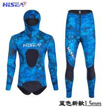 Дайвинг костюм, opencell ткань, Дайвинг камуфляж, охотничья одежда с изображением рыбы, теплый водонепроницаемый камуфляж, глубокий дайвинг