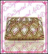Aidocrystal New designer woman gold handle handbag