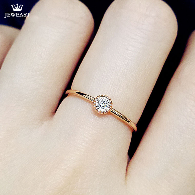 18K Gold Pure Gold Ring Real 18K Gold Solid Gold Rings  Beautiful Upscale Trendy Classic Party Fine Jewelry Hot Sell New 2020
