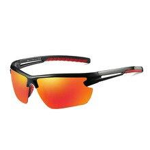 fe37c32b23 Polarizado rojo espejo deporte gafas de sol de Marco Negro hombres mujeres  Anti-reflejo verano