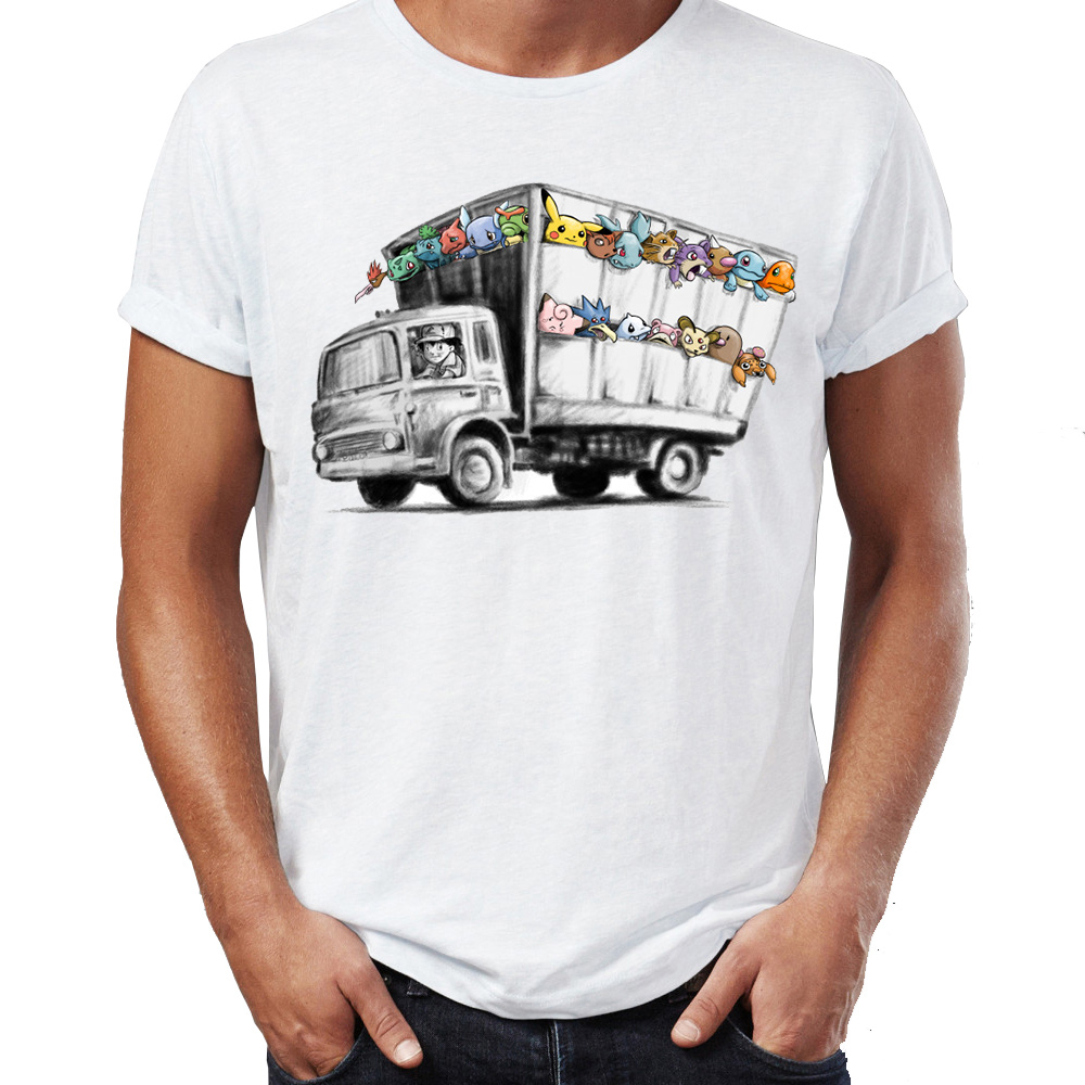 92d4ef97 Men-2527s-T-Shirt-Banksy-Truck-Featuring-Pokemon -Pikachu-Charzard-Squirtle-Eevee-Artsy-Awesome-Artwork-Printed.jpg